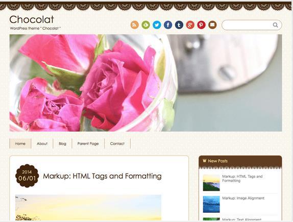 WordPressの無料テーマChocolat